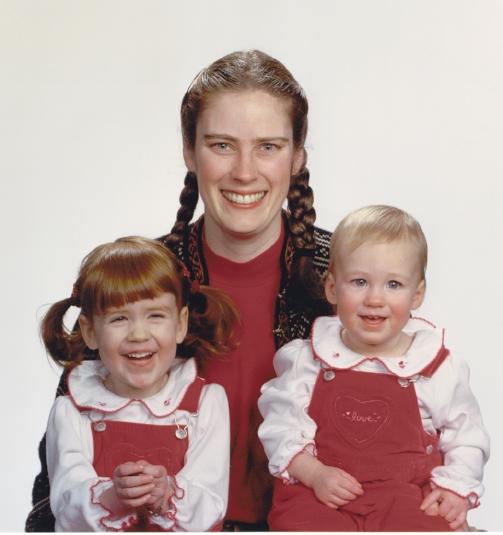 Valentine mom & girls
